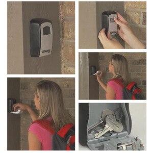 Image 4 - Ящик для хранения скрытых ключей, настенный Сейф для дома и офиса, мастер замок