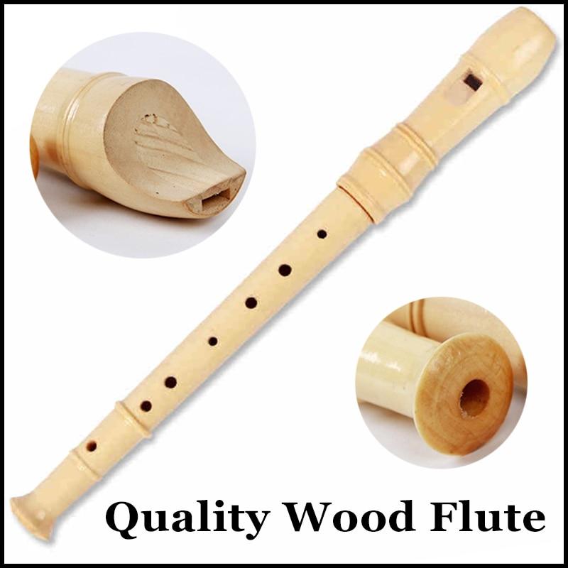 8 Holes Wooden Soprano Recorder Flute Woodwind Musical Instruments Reedpipe Flauta Grabadora Student Beginner Flutophone Gifts