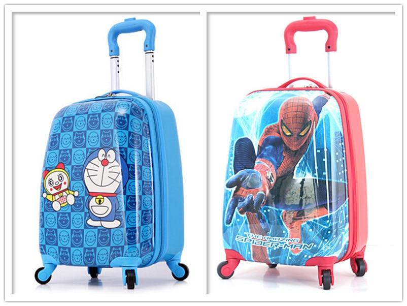 18'' Boys Doraemon Rolling Luggage/Kids ABS Spiderman Print ...