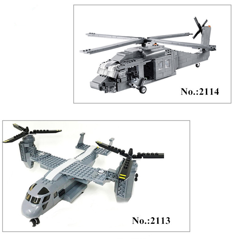 H&HXY 2114  562Pcs/ 2113 318Pcs BuildingBlocks Military UH-60 BLACK HAWK Plane Airplane Helicopter Bricks Blocks  Decool Toys decool 2114 building blocks military uh 60 black hawk plane airplane helicopter bricks blocks children toys compatible with lego