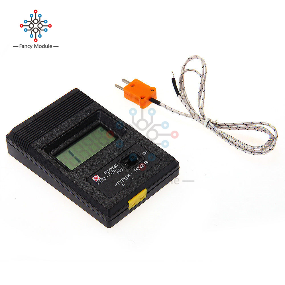 TM902C Digital LCD K Type Thermometer Temperature Single Input Pro Thermocouple Probe detector Sensor Reader Meter TM 902C lcd digital humidity and temperature meter gauge type k thermocouple sensor probe 2 in 1 measurement thermometer 10degc 50 degc