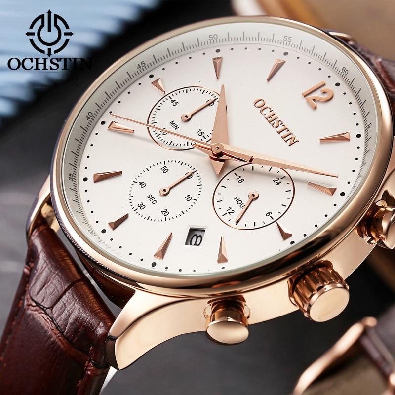 2017 Top Luxury Brand OCHSTIN Men Sports Watches Men s Quartz Date Clock Man Leather Military Innrech Market.com