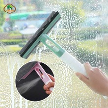 MSJO Glass Cleaner Window Squeegee Wiper 3 in 1 Spray Brush Portable Sponge Household Car Cleaning Tools