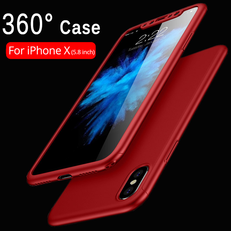 Shockproof Hybrid Full Coverage Case for iPhone X 10 7 8 6s Plus Hard Impact Rugged