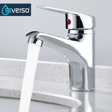 EVERSO Bathroom Basin Sink Faucet Chrome Single Handle Kitchen Faucet Cold and Hot Mixer Water Bathroom Torneira Do Banheiro