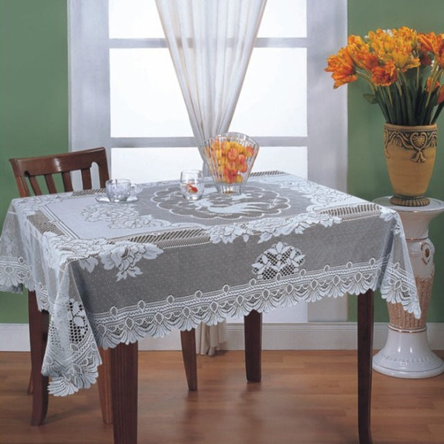 Free Shipping Fl Lace Tablecloths Oblong Table Cover With 60x90inch 52x70 Daily Decoration Fabirc 60x104inch