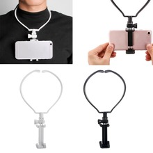 Hands Free Phone Stand Wearable Hang On Neck Holder Mount Kit For iPhone Samsung Action Camera