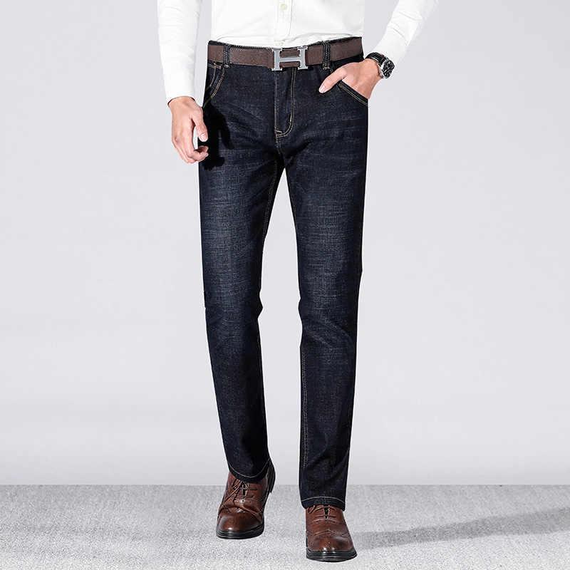 Новинка 2019, мужские брендовые джинсы, модные мужские повседневные облегающие прямые джинсы, обтягивающие мужские джинсы, синие, хит продаж, мужские брюки