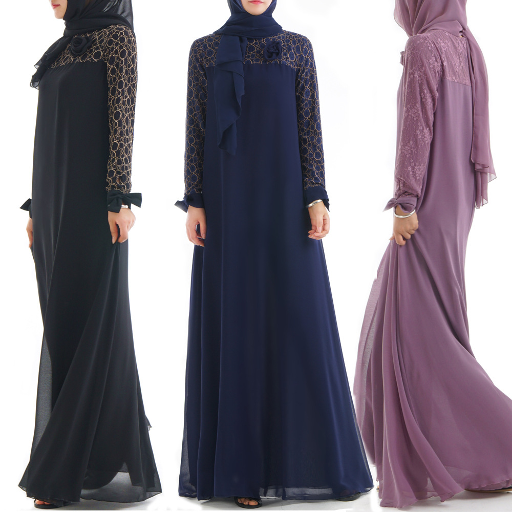 Muslim Dress Abaya Islamic Clothing Women Jurk Robe Femme Musulmane Arabic Kimono Kaftan Dubai Turkey Vestidos