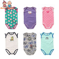 5pcs/set  New Cotton, Summer Triangle, No Sleeve Cotton Bodysuit Vest Style Printing and Embroidery ATLL0063