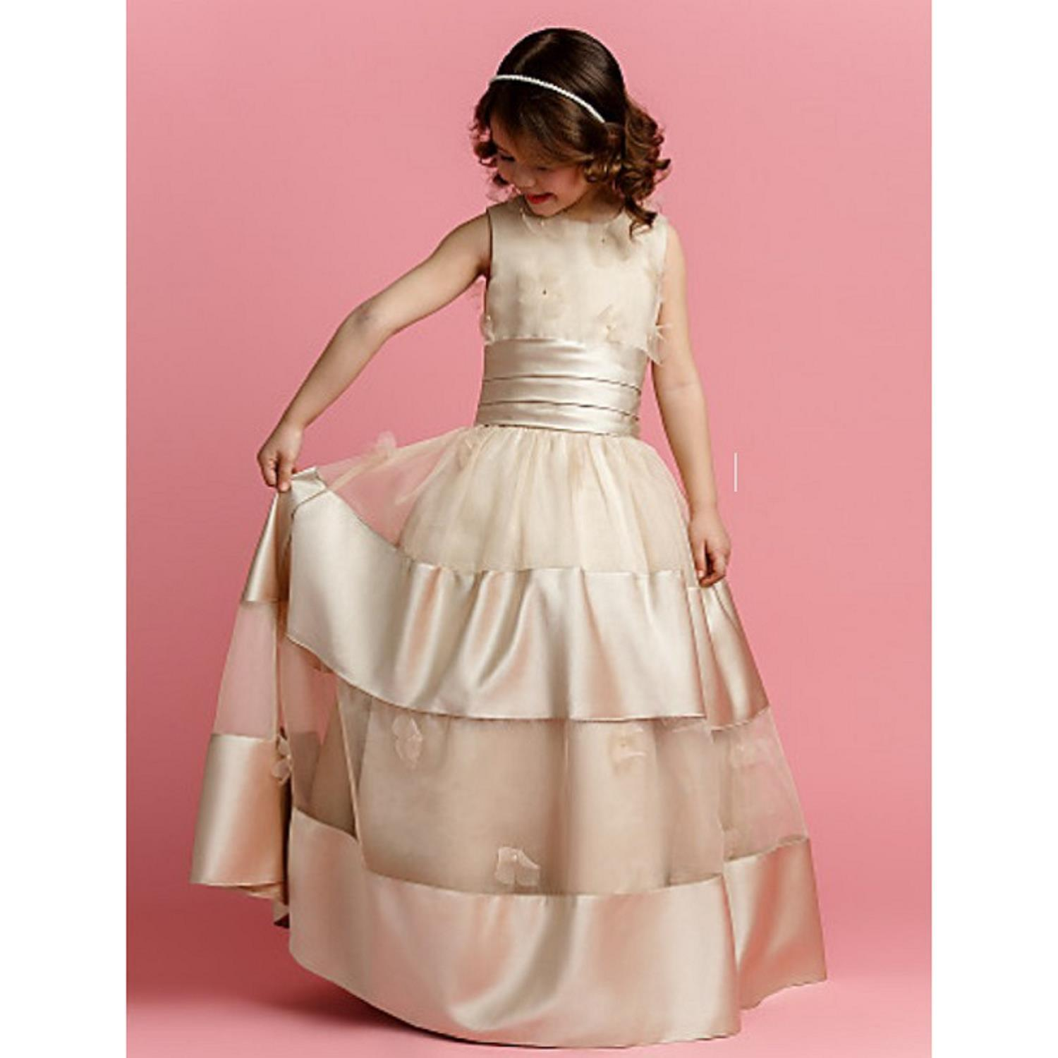 цены High-end handmade girls Wedding Party Pageant Dress Baby First Communion Dress Toddler Gowns Child party wedding Dress vestido