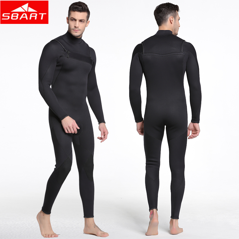 SBART 3MM Neoprene Wetsuit Men Underwater Hunting Spearfishing Keep Warm Windsurf Swimsuit One-piece Surfing Scuba Diving Suits цены