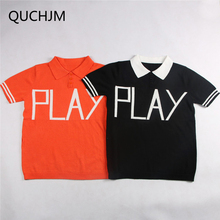 2018 Rushed Family Matching Parent-child Outfit Mother Kid Short Sleeve Polo  Unlined Upper Garment 6e72071c0b0