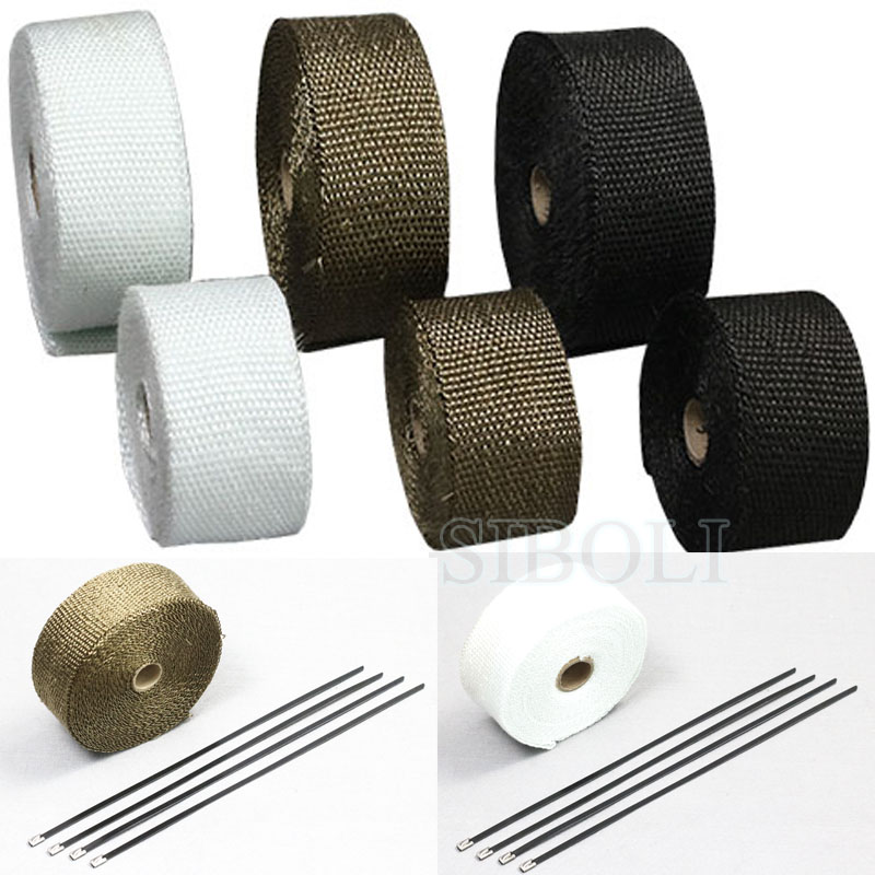5m 10m Motorcycle Exhaust Pipe Header Heat Wrap Resistant Stainless Steel Tie Manifold Insulation Cloth Roll FT002