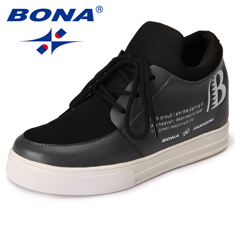BONA New Arrival Classics Style Women Pumps Lace Up Women Leisure Shoes Increased Internal Women Outdoor Fashion Sneakers Shoes