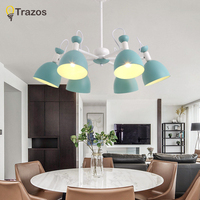 Trazos LED Chandelier Modern Hanging Lamp For Living Room Dining Room Lustres Pendente White Black E27