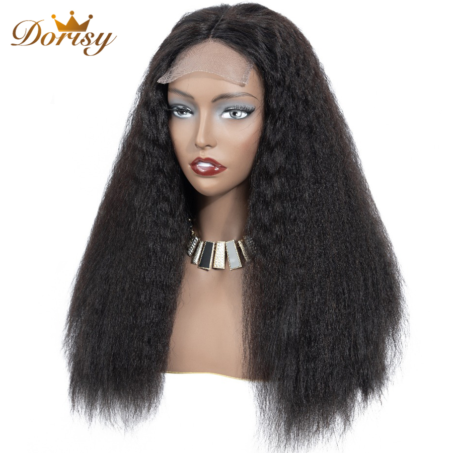 Kinky Straight Wig Lace Closure Wig Lace Front Human Hair Wigs Human Hair Wigs Closure For