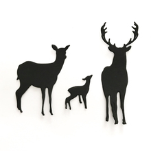 3Pcs Christmas Deer Metal Cutting Dies for Scrapbooking DIY Album Embossing Folder Paper Card Maker Template Decor Stencils Dies merry christmas trees sticker painting stencils for diy scrapbooking stamps home decor paper card template decoration album