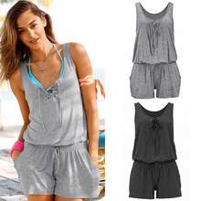 013db502f78 NEW Summer Women plus size Suspenders Casual Jumpsuit Shorts Loose Fashion  Sexy Holiday Beach Sleeveless Siamese