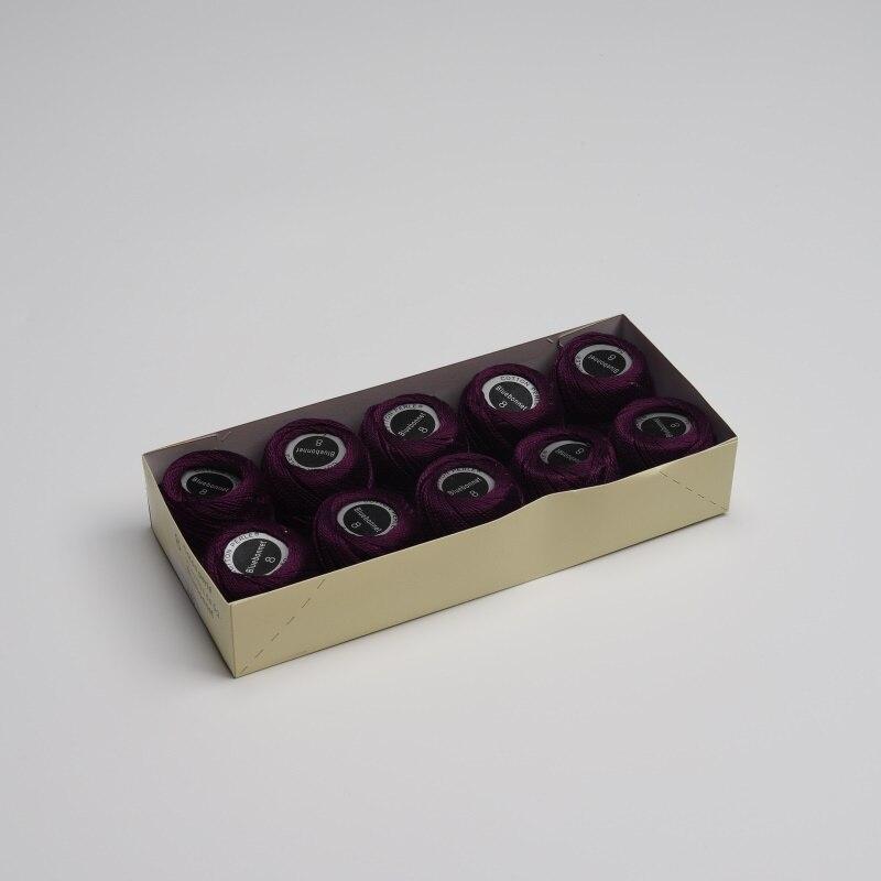 Размер 8 жемчужная хлопковая нить для вышивки крестиком 43 ярдов(5 грамм) на шарик Двойной Мерсеризованный длинный штапельный хлопок 10 шариков в цвет - Цвет: 680