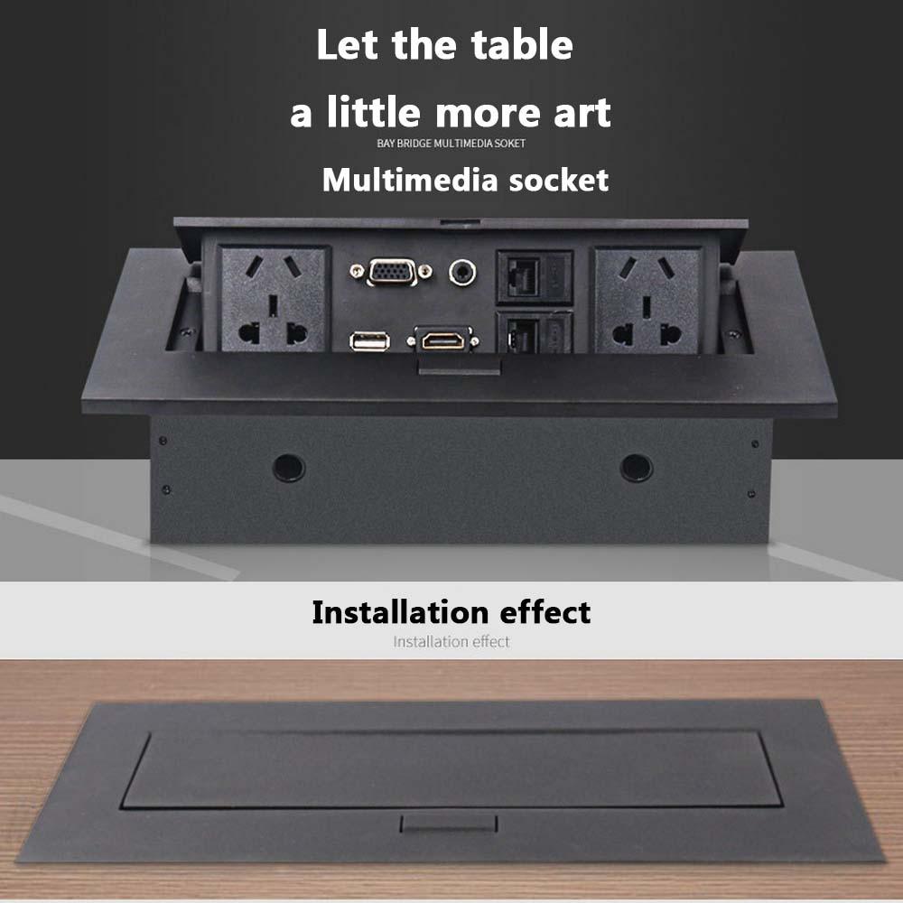 Nouveau K514 AU/EU/US Standard/universel/prise de table/caché/HDMI haute définition multimédia prise de bureau Pop-up - 2