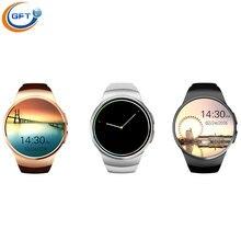 GFT smart uhr kw18 sim android smartwatch mit pulsmesser MTK2502C android wear für IOS android-handy uhr Schrittzähler