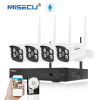 MISECU Plug Play 1080P 4CH Wireless System WIFI IP Camera Audio 2 0MP Camera Waterproof Motion