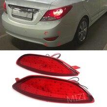 Для Hyundai Accent Verna Brio Solaris 2008-2015 Задний Бампер Отражатель тормоза свет красный светодиод лампы автомобиля Предупреждение Знак стоп противотуманная фара