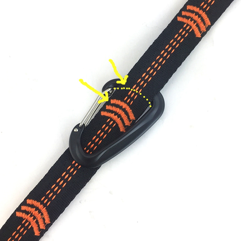 Image 3 - TR 16280 Outdoor Tree Hanging Hammock Strap High Load Bearing Nylon Webbing Climbing Rope Durable Camping Travel Portable Sling-in Climbing Accessories from Sports & Entertainment