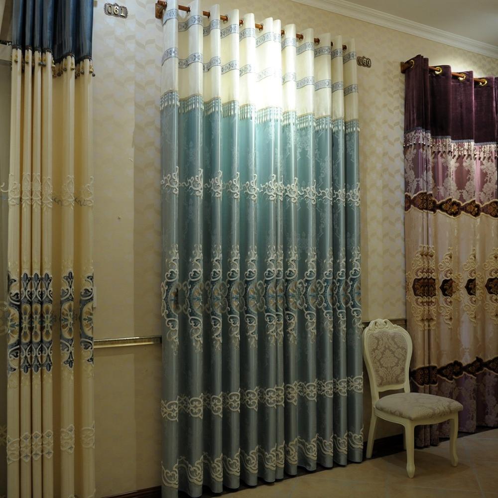 Hoge kwaliteit groothandel blauw gedessineerde gordijnen van ...