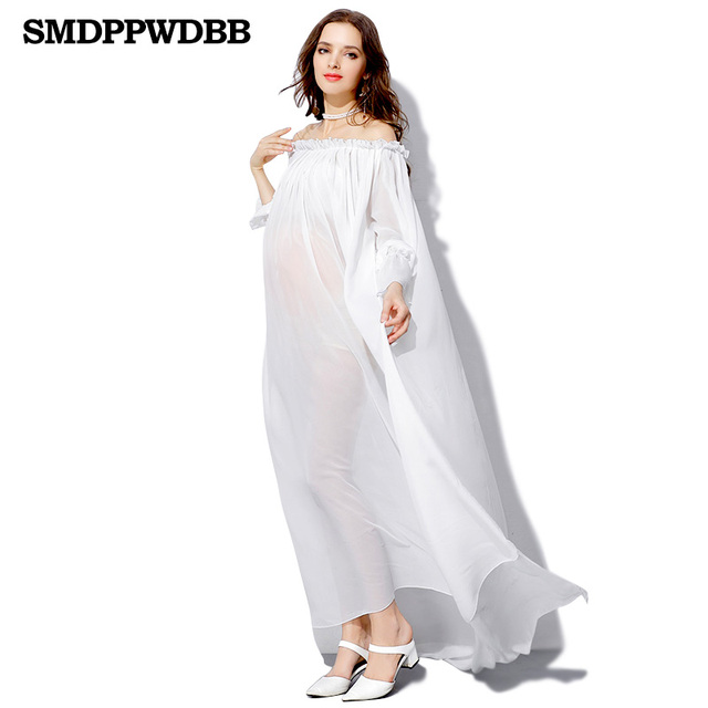 SMDPPWDBB White Maternity Dresses Maternity Photography Props ...