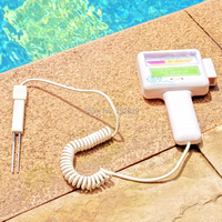 Swimming pool accessories high quality tester ABS spa pool ph cl2digital tester easy to read 1pcs free shipping chlorine tester