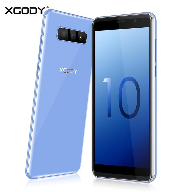 XGODY S10 5.5 polegada 3G Smartphones 18:9 GB de RAM GB ROM 16 2 MT6580 Quad Core Dual Câmera Móvel telefone Android 8.1