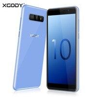 XGODY S10 5,5 дюймов 3g смартфон 18:9 Оперативная память 2 Гб Встроенная память 16 Гб MT6580 4 ядра двойной Камера мобильный телефон Android 8,1