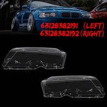 1 пара автомобильных фар прозрачные линзы фары Прозрачная крышка купе трансформер для BMW E46 2DR 1999-2003 M3 2001-2006