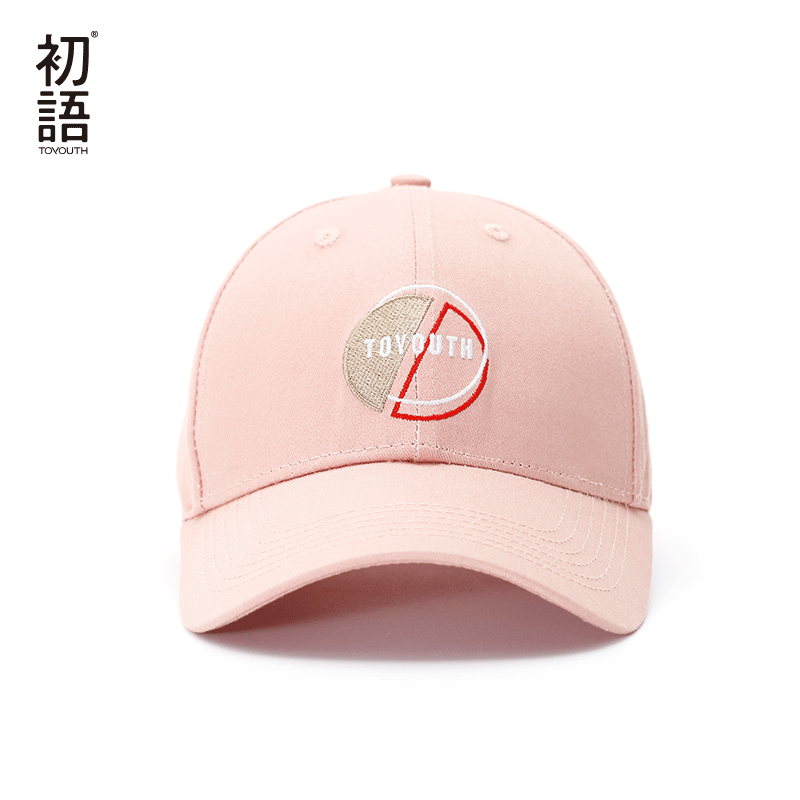Toyouth Baseball Cap Women Casual Letter Embroidery All Match Adjustable Sun Hat Pink Color 2