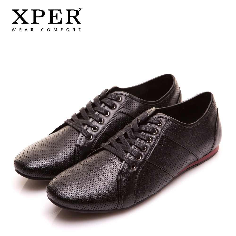 769eeb7a1f01f XPER брендовая кожаная повседневная обувь мужские Мокасины обувь модные  бизнес-обувь дышащие кроссовки комфорт туфли