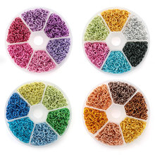 6mm colorful aluminum Open Jump Rings Split Rings Connectors for necklace bracelet DIY Jewelry Making Accessories 1080PCS/box