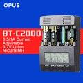 Original Opus BT-C2000 LCD NiCd NiMh Cargador de Baterías Inteligente Tester Analizador con la Detección de Sobrecalentamiento y de Medición de la Resistencia