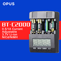 Original Opus BT-C2000 LCD NiCd NiMh Intelligent Battery Charger Tester Analyzer with Overheat Detection & Measuring Resistance