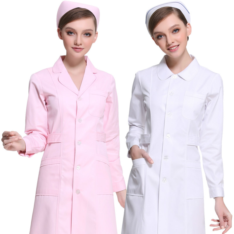 Men Medical Clothes White Lab Coats Nurse Work Wear Uniforms Scrub Medical Doctor's Long Sleeve Jacket