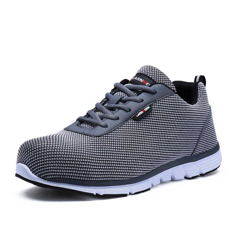 53990afa ... Free shipping men modyf safety working shoes steel toe cap shoes  lightweight air mesh breathable trekking ...