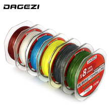 DAGEZI Super Strong With Gift 8 strand 150m 10-80LB brand fishing lines 6colors 100% PE Braided Fishing Line smooth line