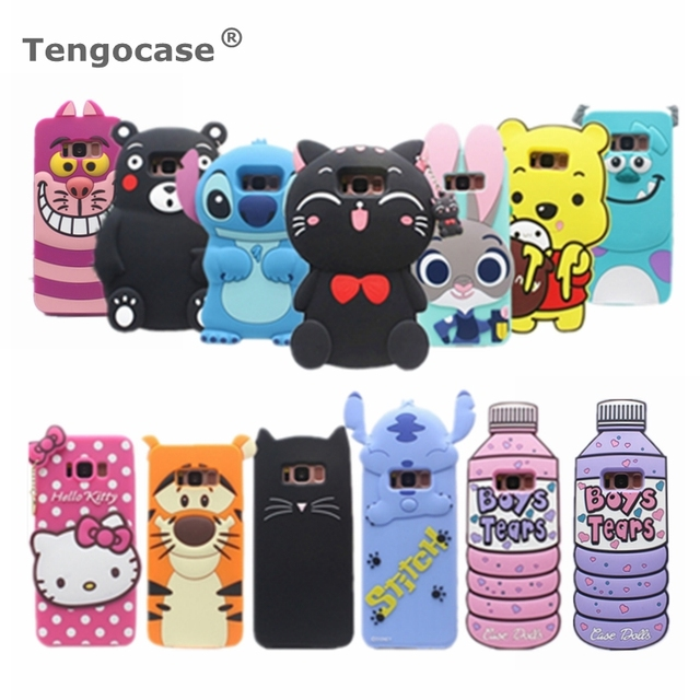 release date: 85cce 817dc US $3.45 |3D cartoon phone case for Samsung Galaxy S8 soft rubber back  cover for Galaxy S8 plus silicone cartoon rabbit cat bear cute case-in  Fitted ...
