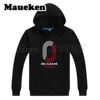 Men Hoodies Damian Lillard 0 Rip City Big game dame Sweatshirts Hooded Thick for portland fans gift Autumn Winter W17112506