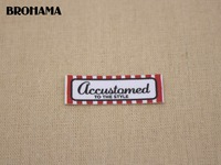 98 Custom Labels Custom Clothing Labels Name Tags Red Text Boxes White Organic Cotton Iron TB040