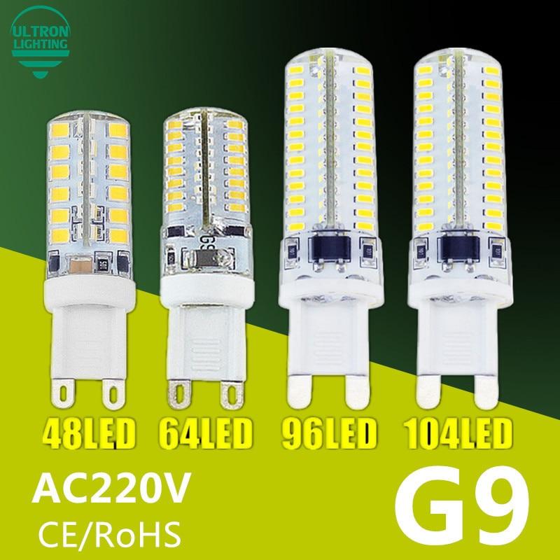 G9 LED Lamp 7W 9W 10W 11W Corn Bulb AC 220V SMD 2835 3014 48 64 96 104leds Lampada LED light 360 degrees Replace Halogen Lamp