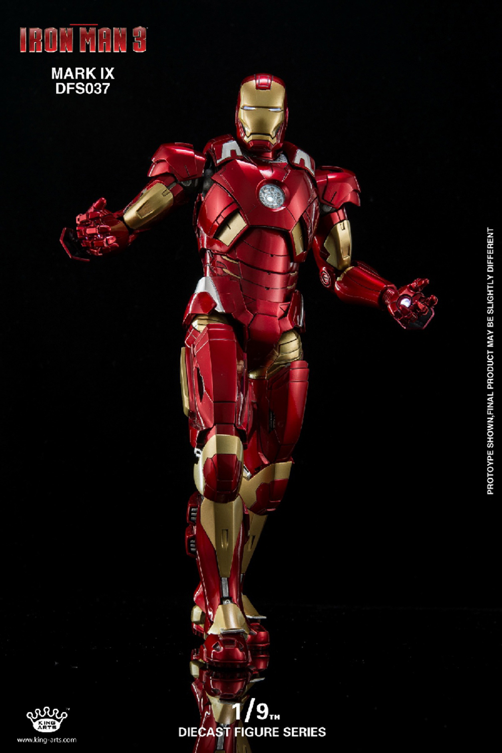 1/9 Scale King Arts DFS037 Mark9 1:9 Iron Man action figure Collectible Action Figures 1