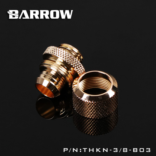 "Купить с кэшбэком BARROW Fitting use for Inside Diameter 9.5mm + Outside Diameter 12.7 Soft Tube 3/8""ID X 1/2""OD Tubing Hand Fittings THKN-3/8-B03"
