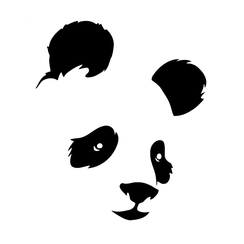 12,2 см * 14,3 см, панда, мишка, животное, Стайлинг автомобиля, украшение Мотоцикла, стикер для автомобиля, черный/серебристый, с рисунком, для автомобиля, украшение для мотоцикла|car sticker|stickers blackcar decoration stickers | АлиЭкспресс